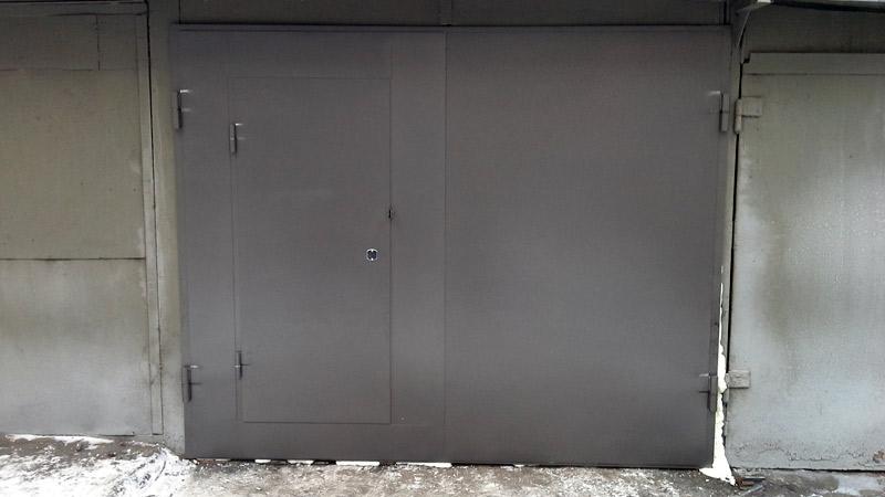 распашные утепленные ворота для гаража