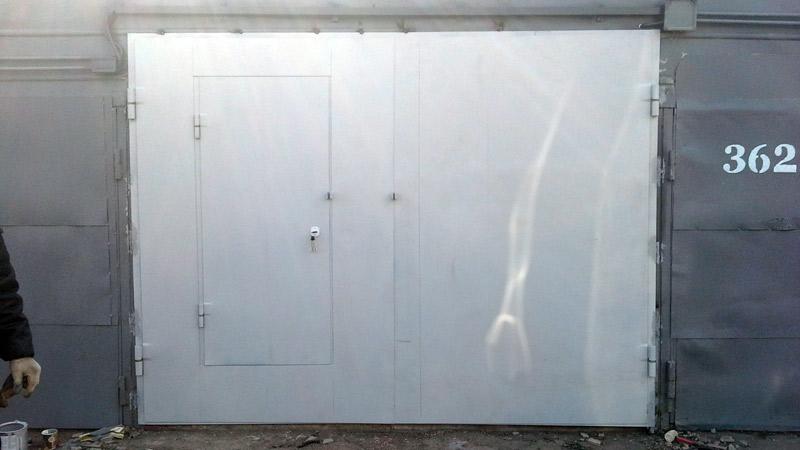 купить ворота для гаража металлические распашные