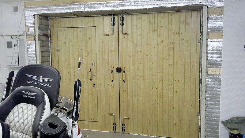 ворота для гаража распашные с калиткой цена